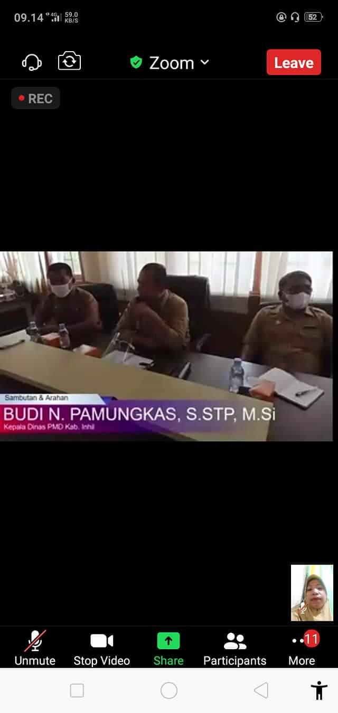 Penandatanganan Kontrak Kerja Dinas PMD Inhil dengan FM dan PD DMIJ Plus Terintegrasi Tahun 2021