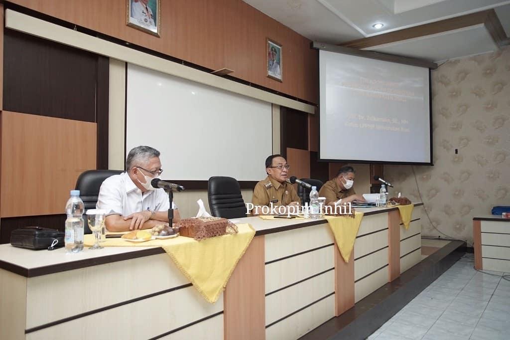Bupati Inhil Pimpin Diskusi Bersama Tim Kooordinasi TKPK Inhil